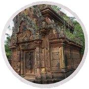 Famous Temple Banteay Srei Cambodia Asia  Round Beach Towel