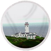 Fanad Head Lighthouse Round Beach Towel