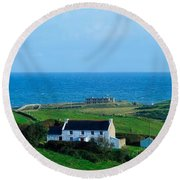 Fanad Lighthouse, Fanad, County Donegal Round Beach Towel