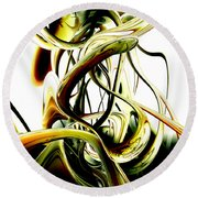 Fanciful Abstract Round Beach Towel