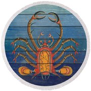 Fanciful Sea Creatures-jp3824 Round Beach Towel