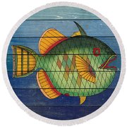 Fanciful Sea Creatures-jp3826 Round Beach Towel