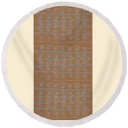 Fancy Brown Bag Round Beach Towel