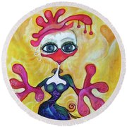 Fancy Chick Round Beach Towel