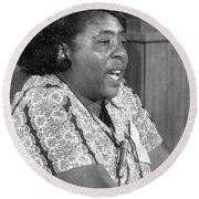 Fannie Lou Hamer (1917-1977) Round Beach Towel