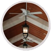 Fans And Lights Round Beach Towel
