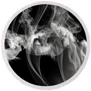 Fantasies In Smoke Iv Round Beach Towel