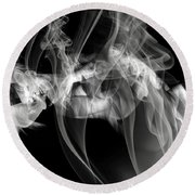 Fantasies In Smoke Iv Round Beach Towel