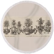 Fantastic Vases Round Beach Towel