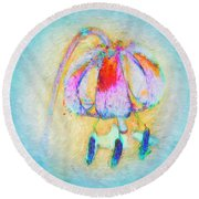 Fantastical Lily Round Beach Towel