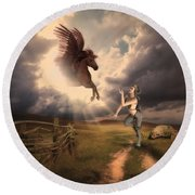 Fantasy Creatures 1 Round Beach Towel