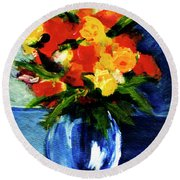Fantasy Flowers #117 Round Beach Towel