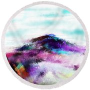 Fantasy Mountain Round Beach Towel