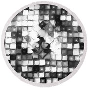 Fantasy Tiles Abstract Round Beach Towel