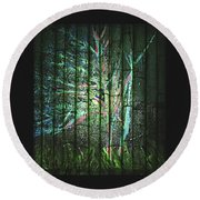 Fantasy Tree On Bamboo Round Beach Towel