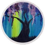Fantasy Tree Round Beach Towel