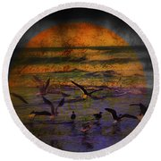 Fantasy Wings Round Beach Towel