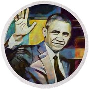 Farewell Obama V2 Round Beach Towel
