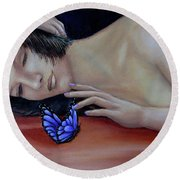 Farfalla - Butterfly Round Beach Towel
