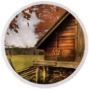 Farm - Barn - Shed Out Back Round Beach Towel
