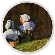 Farm - Farmer - The Young Maidens Round Beach Towel