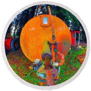 Farm And Logging Machinery Round Beach Towel