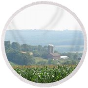 Farm Country Round Beach Towel