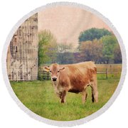 Farm Dreamscape Round Beach Towel