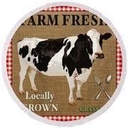 Farm Fresh-jp2381 Round Beach Towel