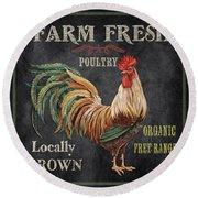 Farm Fresh-jp2634 Round Beach Towel