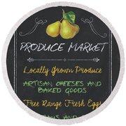 Farm Fresh Produce Round Beach Towel
