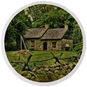 Farm House Round Beach Towel