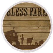 Farm Life-jp3219 Round Beach Towel