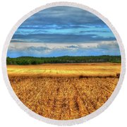 Golden Field Farm Li.ny Round Beach Towel