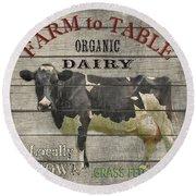 Farm To Table Dairy-jp2629 Round Beach Towel