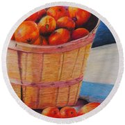 Farmers Market Produce Round Beach Towel
