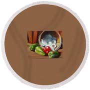 Farmers Market Round Beach Towel
