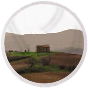 Farmhouse Round Beach Towel