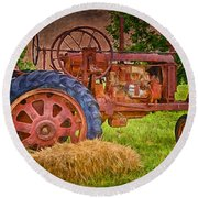 Farming In Hanksville Utah Round Beach Towel