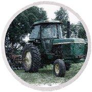 Farming John Deere 4430 Pa 01 Round Beach Towel