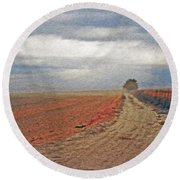 Farmland 3 Round Beach Towel