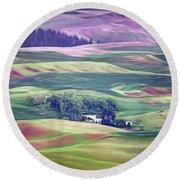 Farmland Colors - No. 1 Round Beach Towel