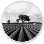 Farmland Round Beach Towel