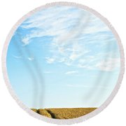 Farmland To The Horizon 2 Round Beach Towel