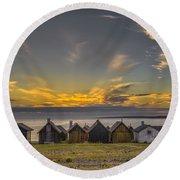 Faroe, Gotland, Sweden Round Beach Towel