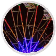 Farris Wheel Close-up Round Beach Towel