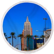 Fascination Las Vegas Round Beach Towel