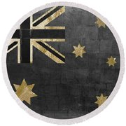Fashion Flag Australia Round Beach Towel