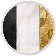 Fashion France Flag Round Beach Towel