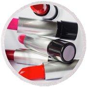 Fashion Model Lipstick Round Beach Towel